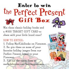 Enter now to win the Perfect Present Gift Box! Christmas Things, Christmas 2014, Christmas Christmas, Love Monster, Holiday Images, Nick Jr, Winner Winner Chicken Dinner, Presents For Kids, Childrens Gifts