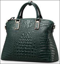 84fafa635d Authentique Sac 100% Cuir Façon Crocodile... Magnifique sac à main de haute