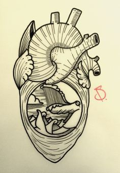 © SailorDave – 2015   Ocean's heart #tattoo #tattoos #ink #inked #tattooartist #artist #art #swissartist #sailor #dave #heart #whale #waves #sailordave #gravur #oldschool #traditional #traditionaltattoo #ocean #sea #oceannightmare #nightmare #creature #oceancreature #sail #sailing