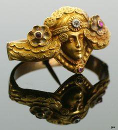 Art Nouveau ring,ca 1890