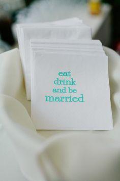 cute custom wedding reception napkins