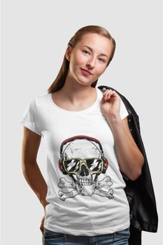 Summer clothes for men and women Summer Outfits Men, Summer Clothes, Skull Headphones, Cotton Tote Bags, Classic T Shirts, Stuff To Buy, Tops, Women, Fashion