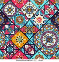 Seamless pattern. Vintage decorative elements. Hand drawn background. Islam, Arabic, Indian, ottoman motifs. Vector illustration