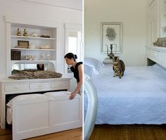 Tucked Away Bed Small Space Solution | photo Heather Ross | @House & Home