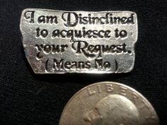 Signs Of The Thymes A Pewter Button With Funny by RedwolfLtd