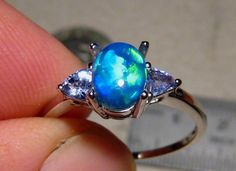 Opal ring...love this stone!