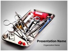 EditableMedicalTemplates.com presents state-of-the-art Surgery Instrument #PowerPoint #template for medical professionals. Create great-looking medical PowerPoint presentations with our Surgery Instrument medical PowerPoint theme. #Surgery #Operating #Medicine