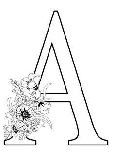 Punch Needle Patterns, Monogram Alphabet, Letter Art, Adult Coloring Pages, White Patterns, Illustrators, Arts And Crafts, Art Crafts, Stencils