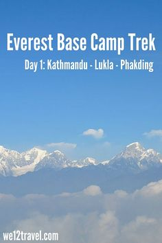 The trail to Everest Base Camp - day 1. Flying from Kathmandu to Lukla (the most dangerous airport in the world) and hiking to Phakding!
