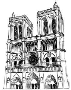 Coloriage Notre Dame de Paris
