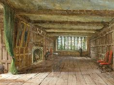 Louise Rayner interior at Haddon Hall
