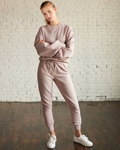 Brushed Ruched Jogger Pant Pink Women's S Sporty Outfits, Fall Outfits, Cute Outfits, Fashion Outfits, Jogger Pants, Joggers, Sweatpants, Fashion Models, Moda Casual