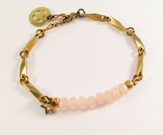 Laiton doré - Cristal de Bohême Diy Jewelry, Charlotte, Bracelets, Gold, Fashion, Crystal, Brass, Moda, Fashion Styles