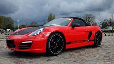Porsche Boxster rouge