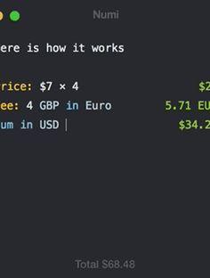 A beautiful calculator app for Mac