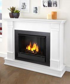 Look at this #zulilyfind! White Silverton Ventless Gel Fireplace by Real Flame #zulilyfinds