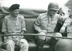 [Photo] Bernard Montgomery and George Patton near Palermo, Sicily, Italy, 28 Jul 1943 Theodore Roosevelt Jr, Bernard Montgomery, George Patton, Ww2 Pictures, United States Army, Military History, World War Two, Historical Photos, World History
