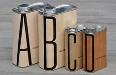 ABCD aluminum canisters with maple syrup