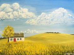 Painted Signs, Landscape Paintings, Cottage, Fine Art, The Originals, Canvas, Frame, Artist, Tela