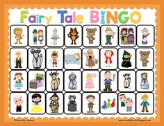 Fairy Tale BINGO ~ great for receptive/expressive language, listening for details and making inferences! $