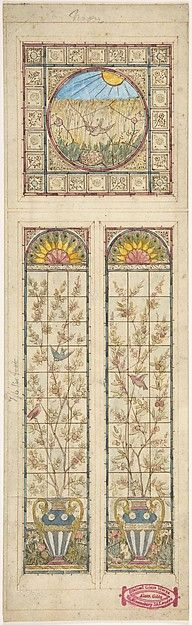 Design for a stained glass window Artist: Alexander Gibbs (British, active 1866–1882) Date: 1866–92