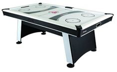 Atomic Blazer Air Hockey Table with Electronic Score Keeping with Rail-integrated Display, Heavy-duty Blower for Fast Play, Overhang Rails for Reduced Puck Bounce and Leg Levelers to Ensure Even Playing Surface Air Hockey, Hockey Games, Table Tennis Conversion Top, Bumper Pool Table, Indoor Games, Game Room, A Table, Things That Bounce