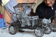 Car and Driver:  Drotárska (wire art made by tinkers) displayed at The Wedding Palace in Bytča at the Tinkers Festival in 2011.   - photo from drotaria    www.drotaria.sk/index.php?option=com_content&task=view&id=291&Itemid=161