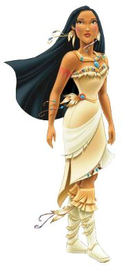 "Pocahontas is the main protagonist in the film Pocahontas and its sequel, Pocahontas II, and is the first Disney Princess to have been based (loosely) a real person, and not on a fairytale. She has black hair, brown eyes, and is voiced by Irene Bedard. She is the first Disney Princess to have two ""princes"" (John Smith and John Rolfe, though only the former is an official Disney Prince). Pocahontas is the second Princess (after Jasmine) to have a different singing voice than speaking voice."