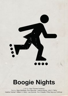 Viktor Hertz is a Swedish designer who made these pictogram movie posters. He's taken an idea from the film and made minimalistic pictogram movie posters out Minimal Movie Posters, Minimal Poster, Film Posters, Retro Posters, Roller Derby, Roller Rink, William H Macy, Vie Motivation, Boogie Nights
