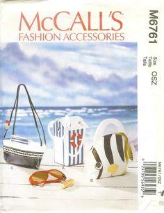 McCalls M6761 Bags Pattern Sizes OSZ Uncut   eBay