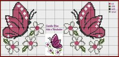 This Pin was discovered by Elm Cross Stitch Cards, Cross Stitch Baby, Cross Stitch Alphabet, Cross Stitching, Peyote Patterns, Loom Patterns, Cross Stitch Designs, Cross Stitch Patterns, Butterfly Cross Stitch