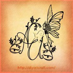 #fairy #monogram AU #tattoo nice <3