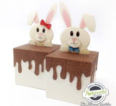 FREE»DIY 3D cut file -- Shape 15: Caixa Chocolate by Nilmara Quintela - Silhouette Brasil-- easter bunny box gift favour decoration chocolate