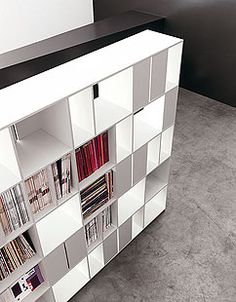 915 Bookcase from Kristalia. Bookcase Storage, Bookshelves, Shelving, Book Storage, Small Apartment Design, Small Apartments, Cupboard Wardrobe, Room Closet, Cool House Designs