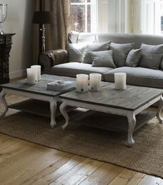 Vintage White Coffee Table - d'