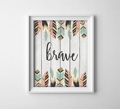 Art Print  Buy One Get One Free  Brave  Boho by ThePrintAnnex