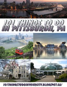 101 Things to Do.: 101 Things to Do in Pittsburgh Pa. Need to do 62 Oh The Places You'll Go, Places To Travel, Places To Visit, Weekend Trips, Day Trips, Voyage Usa, Stuff To Do, Things To Do, Pittsburgh Pa