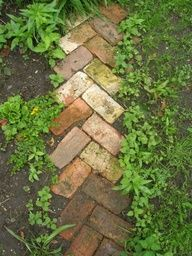 path design - edging for stone garden path I'd love something like this down the west side of the house!