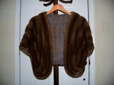 Chocolate Brown Mink Shawl by CoralCastle on Etsy - StyleSays