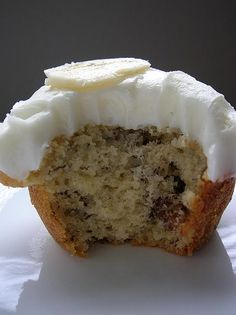 Banana Muffins with Cream Cheese Frosting