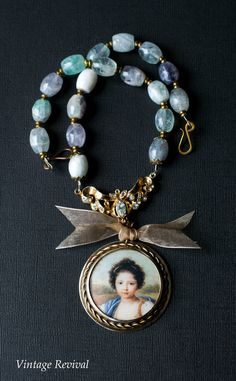 Handmade Portrait Necklace/ Vintage Necklace by thevintagerevivals