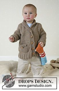 957070861 DROPS Baby 11-26 - Cardigan with pockets and raglan sleeves in ...