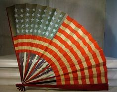 Vintage Americana Flag Paper Fan from The Cat Lady Antiques Fourth Of July Decor, 4th Of July, American Pride, American Flag, Patriotic Decorations, Patriotic Crafts, Patriotic Party, July Crafts, Patriotic Images