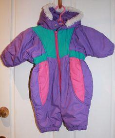 SOLD === TARGET BABY GIRLS RETRO SKI SNOW SNOWSUIT HOODED JUMPSUIT SIZE 0 PURPLE PINK GD #TARGET