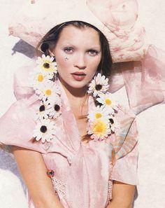 Kate Moss by Peter Lindbergh, Harper's Bazaar January 1993