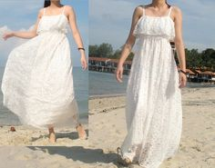 Maxi Dress Wedding Bridesmaid Day Out Lace Dress by myuniverse