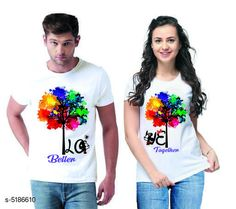 Couple Tshirts Stylish Printed Couple T-shirts  Fabric: Men Tshirt - Cotton  Women Tshirt - Cotton  Sleeves: Half Sleeves Are Included Size: Women Tshirt - S- 36 in M- 38 in L- 40 in XL- 42 in XXL- 44 in Men Tshirt - S M L XL  XXL(Refer Size Chart)  Length: Women Tshirt - Up to 22 in Men Tshirt -  S M L XL  XXL(Refer Size Chart)  Type: Stitched Description: It Has 1 Piece Of Men's T-shirt & 1 Piece Of Women's T-shirt Work - Printed Country of Origin: India Sizes Available: MEN - M/ WOMEN - XS, MEN - L/ WOMEN - XS, MEN - S/ WOMEN - S, MEN - M/ WOMEN - S, MEN - L/ WOMEN - S, MEN - XL/ WOMEN - S, MEN - XXL/ WOMEN - S, MEN - S/ WOMEN - M, MEN - M/ WOMEN - M, MEN - L/ WOMEN - M, MEN - XL/ WOMEN - M, MEN - XXL/ WOMEN - M, MEN - S/ WOMEN - L, MEN - M/ WOMEN - L, MEN - L/ WOMEN - L, MEN - XL/ WOMEN - L, MEN - XXL/ WOMEN - L, MEN - S/ WOMEN - XL, MEN - M/ WOMEN - XL, MEN - L/ WOMEN - XL, MEN - XL/ WOMEN - XL, MEN - XXL/ WOMEN - XL, MEN - S/ WOMEN - XXL, MEN - M/ WOMEN - XXL, MEN - L/ WOMEN - XXL, MEN - XL/ WOMEN - XXL, MEN - XXL/ WOMEN - XXL   Catalog Rating: ★4.1 (501)  Catalog Name: Stylish Printed Couple T-shirts CatalogID_766848 C79-SC1940 Code: 444-5186610-0111