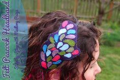 Felt peacock headband by Mallory Paige