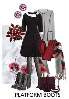 """""""Tall perch"""" by maria-kuroshchepova ❤ liked on Polyvore featuring Disney, Aéropostale, Glamorous, Avenue, Neiman Marcus, Day & Mood, Mistraya and PlatformBoots"""