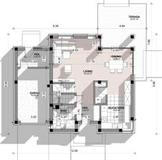 Case moderne cu etaj. Locuinte de vis pana in 200 metri patrati - Case practice Two Story Homes, Story House, House Plans, Floor Plans, How To Plan, Trendy Tree, House Plans Design, House Floor Plans, House Design